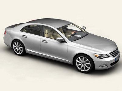 generic car upper class interior 3d model