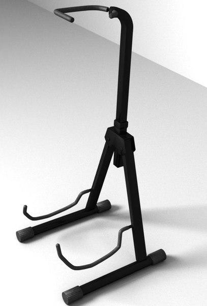 3d guitar stand model