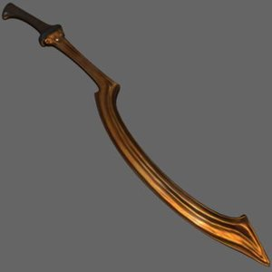 3d model of ancient egyptian khopesh