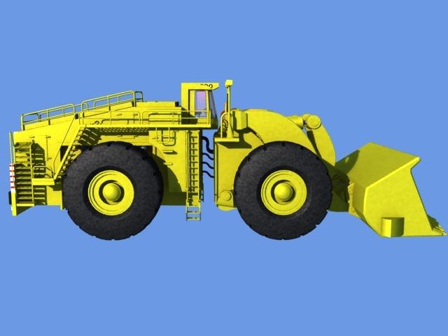 l1800 loader excavator 3d model