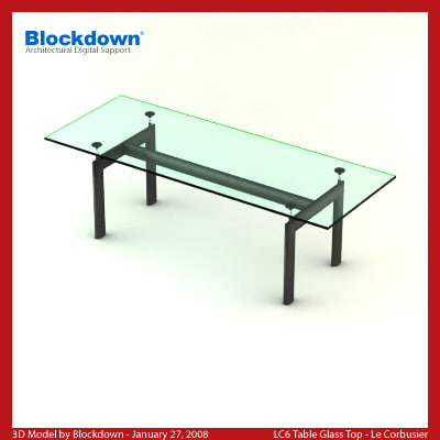 le corbusier glass table