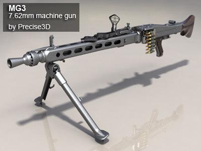 3d german mg3 machine gun model
