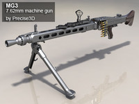 3d german mg3 machine gun model