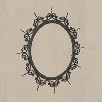 3d model fer circular mirror frame