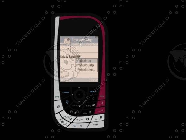 phone nokia 7610 3d model