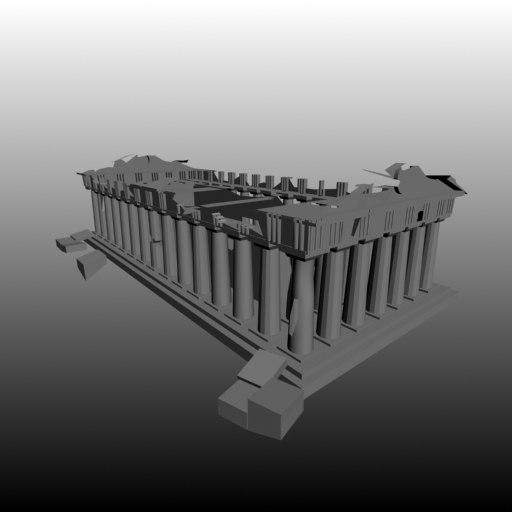 3d model parthenon athens