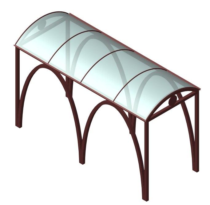 pergola glass 3d model