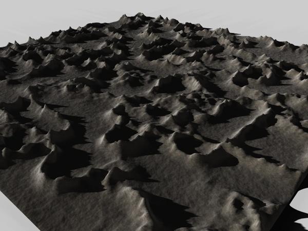 3d model landscape mountainous