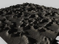3d model landscape mountainous