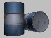 drum 55 gallon 3d model