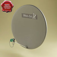 satellite aerial v1 3d model