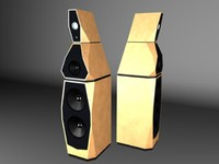 speakers avalon sentinel 3d model