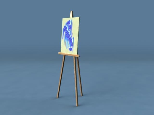3d model artist easel