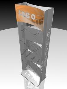 3d case shelving