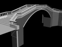 3d italian venetian bridge model