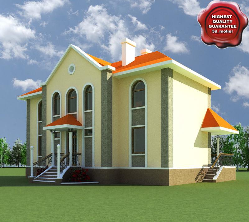 3d villa v4 model