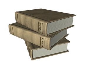 vintage book c4d