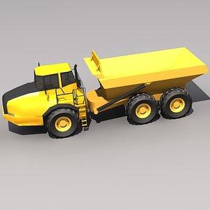3d a40e articulated hauler model