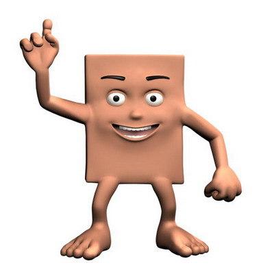 boxman character 3d max