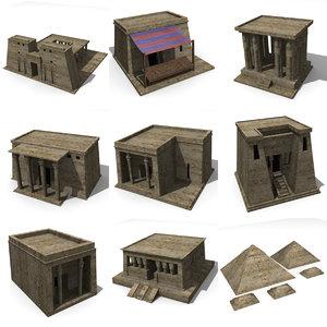 egyptian buildings 3d model