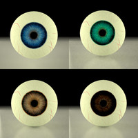 3ds max eyes human blue