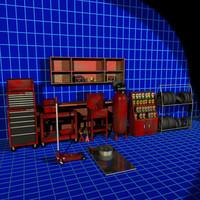 3d model auto garage prop 01