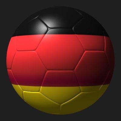 soccer ball germany soccer-ball obj