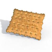 3d classic ulker potibor biscuit model
