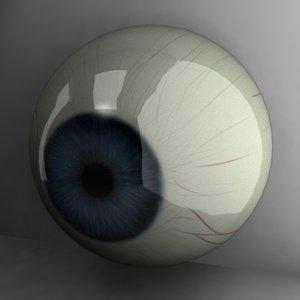 3d model of blue eye