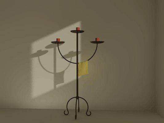 3d model candles candlelabra