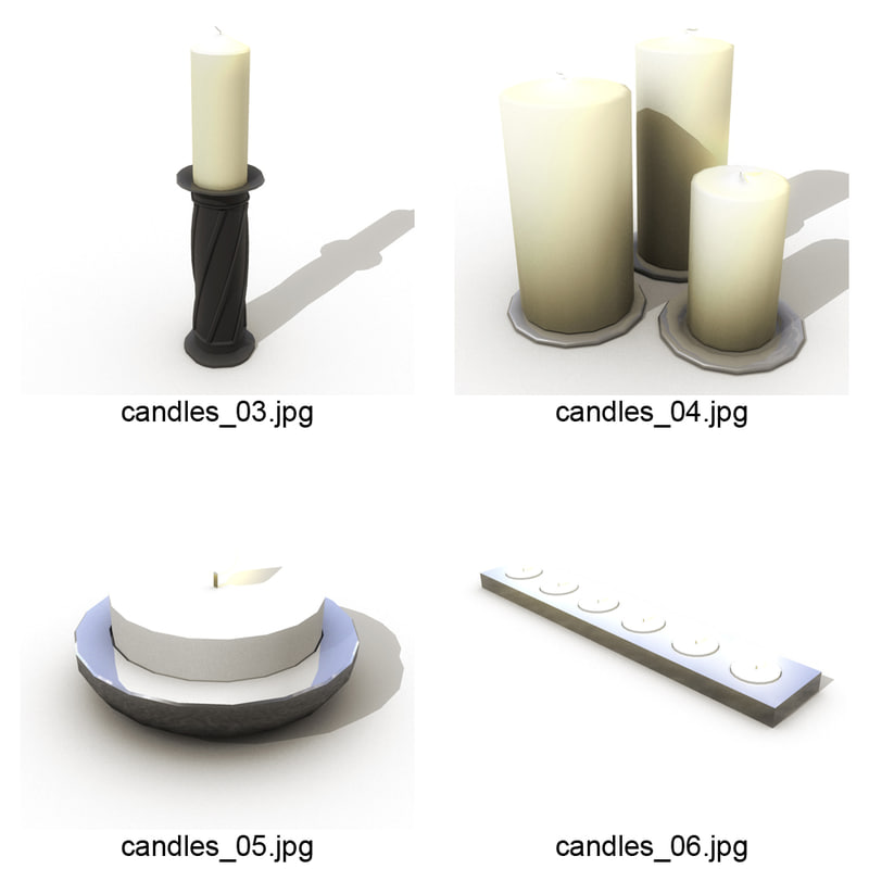 3d model candle candlestick