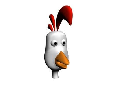 3d Cartoon Chicken Head Model