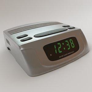 3dsmax digital alarm clock radio