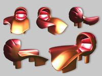3d chair set modern comfort model