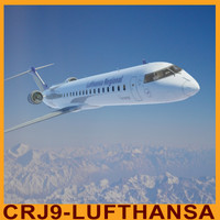 3d crj 900 lufthansa interior model