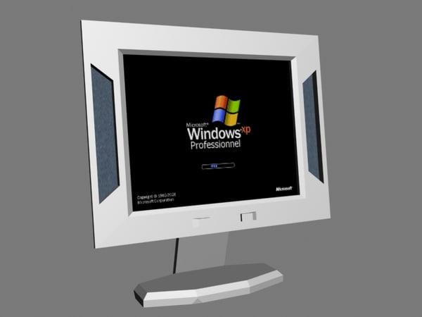 flat screen 3d model
