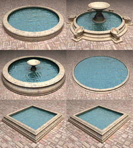 3ds fountains