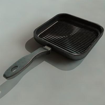 3d model grill pan