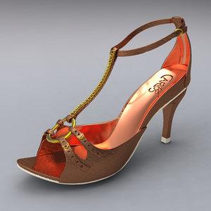 3d women heel