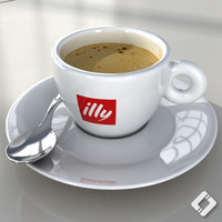 illy cup 3d model