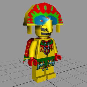 maya lego figure - tribal