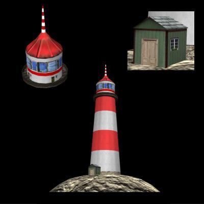 lighthouse different file formats 3d model
