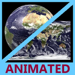 smooth unfolding animation earth 3d model