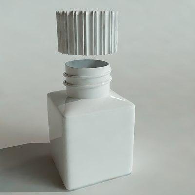 3ds max medicine bottle