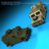3d model military armored vehicle