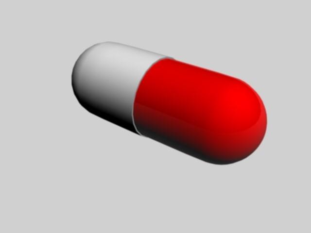 3d model capsule pill