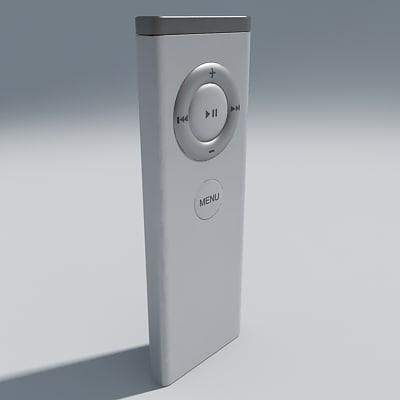 apple remote control 3d max