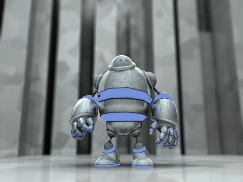 robot animation c4d