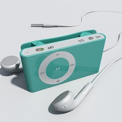 3d model ipod shuffle