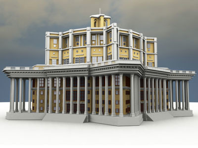 central academic theater russian army 3d max